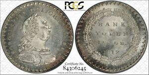 PCGS-Great-Britain-MS-64-1812-18-D-18-Pence-1-Shilling-amp-6-Pence-Bank-Token-18D