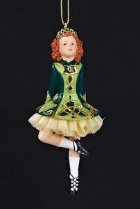 d49223f655c9 KURT S ADLER IRISH GIRL STEP DANCER IRISH DANCING GIRL w/PETTICOAT ...
