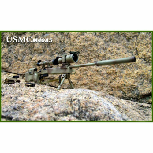 """ZYTOYS ZY8024B 1//6 Scale USMC M40A5 Sniping Rifle Desert Model for 12/"""" Figure"""