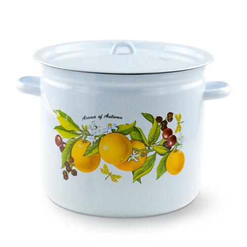 Casserole avec couvercle-fruit FANTAISIE émaillé Casserole Pot bratento 12 L