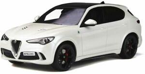 OTTO-MOBILE-830-ALFA-ROMEO-STELVIO-QUADRIFOGLIO-resin-model-car-white-Ltd-1-18th