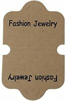 Paper Necklace Jewelry Display Cards Natural Fashion Jewelry Words Print 11.7cm