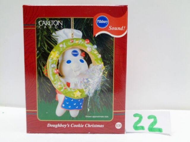 Carlton Cards 2001 Pillsbury Doughboy Cookie Christmas Ornament With Sound 22