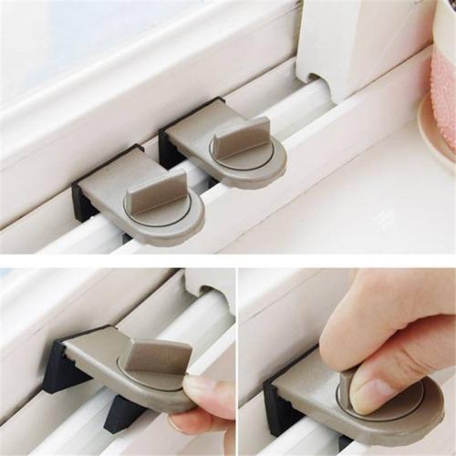 Restrictor Door Safe Sliding Window Safety Catch Kids Child Security Sash Lock A