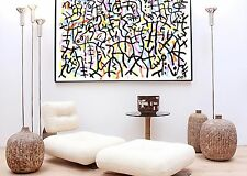 CYNTHIA modern abstract contemporary art acrylic painting on canvas