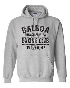 Details about BALBOA BOXING CLUB ROCKY Movie Retro Set Gym Men's Hoodie