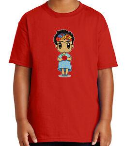 Fri-da KAH-lo Youth//Kids Casual T-Shirt 3D Print Long Sleeve