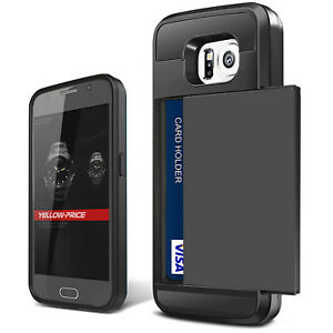 new style 40f83 8bc51 Samsung Galaxy S6/edge/plus/Note 4 Case, HEAVY DUTY WALLET ARMOR ID ...