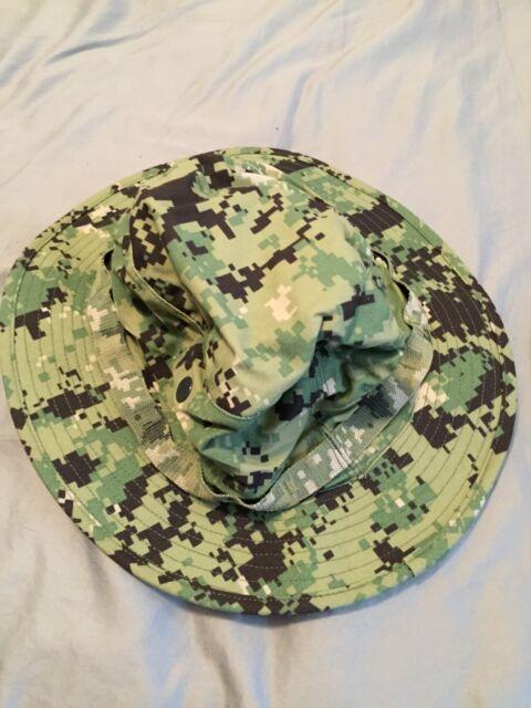3e7a53e699465d NWT NWU Type III Navy Seal AOR2 Digital Woodland Boonie Hat SUN COVER size  XL