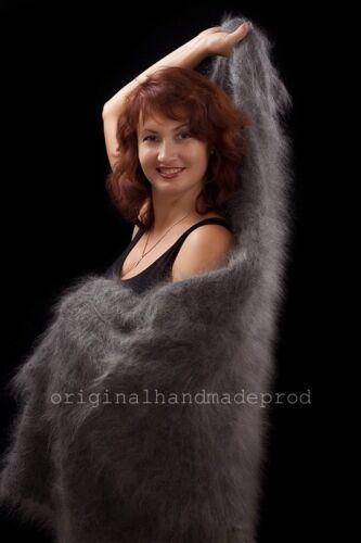 Handgefertigt 150x150cm Russischer Orenburg Schal Wrap 85/% Ziege 15/% Baumwolle