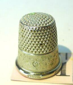 Stars Engraved Silver Thimble Germany marked 9
