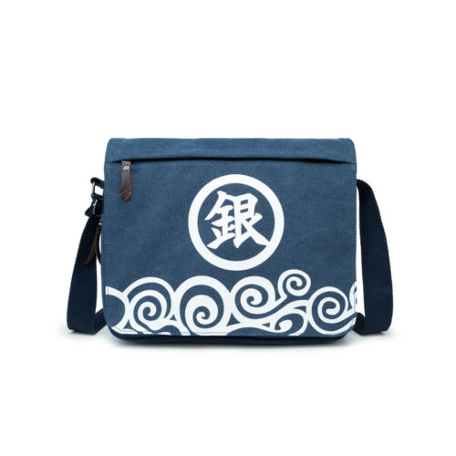 Gintama Sakata Gintoki Canvas Shoulder Messenger Bag School Satchel Crossbody