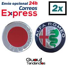 2 x Emblema Logo Stemma Alfa Romeo 74mm Version 2015 147 156 159 Mito GT