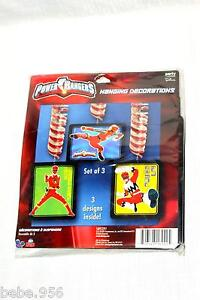 POWER-RANGERS-HANGING-DECORATION-BIRTHDAY-CHILD-MULTI-COLOR-PARTY-SUPPLIES
