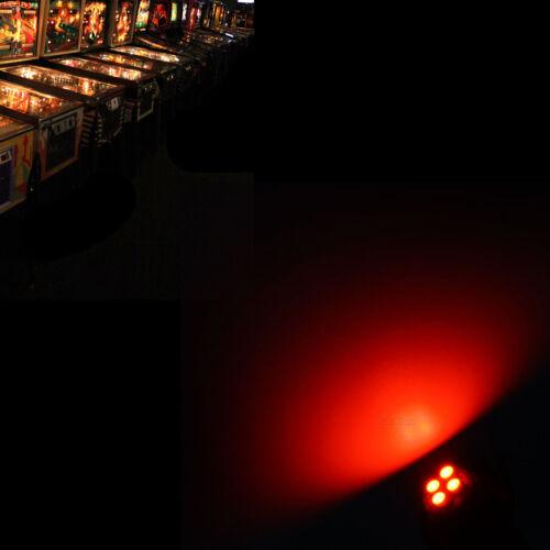 PA 10x #1893 #44 #47 #1847 BA9S 4 SMD LED Pinball Machine Light Bulb Red 6.3V
