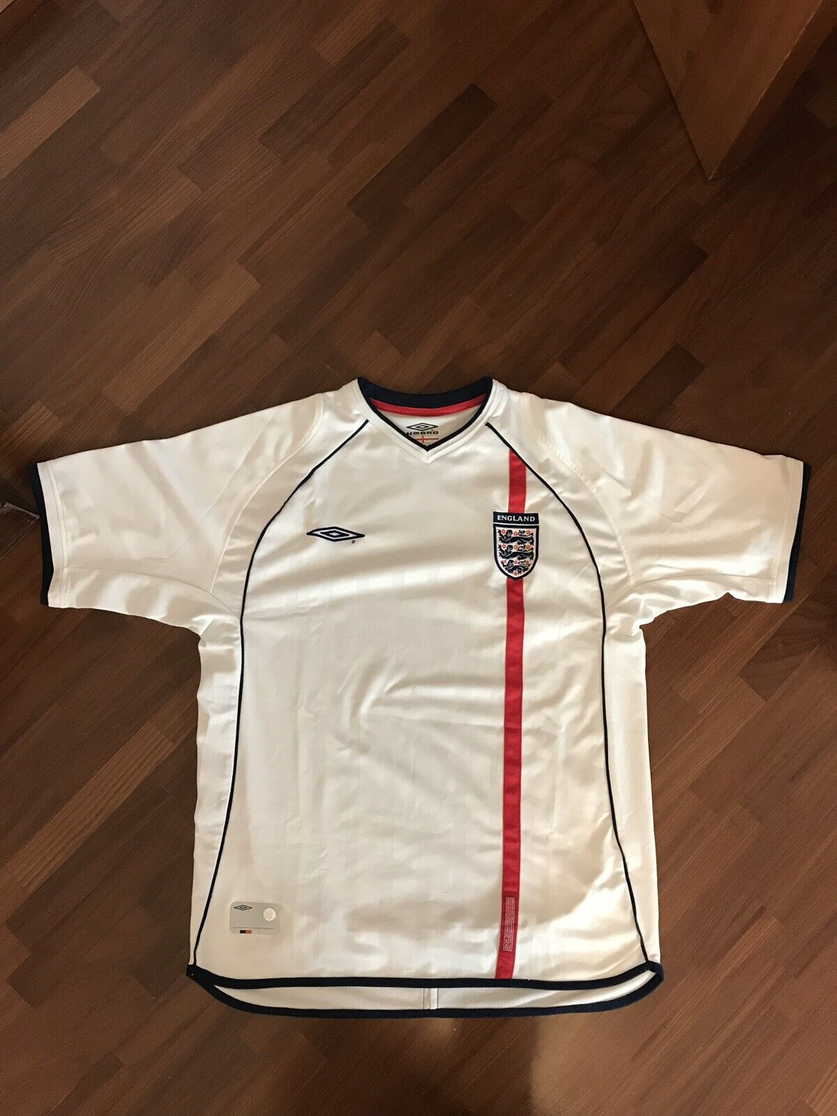OFFICIAL UMBRO SHIRT ENGLe WORLD CUP CUP CUP 2002 MAGLIA CALCIO ORIGINALE INGHILTERRA 5fd