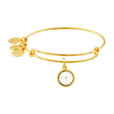 Alex And Ani April Birthstone Gold Expandable Bangle A09EB243G