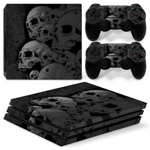 Video Games & Consoles Faceplates, Decals & Stickers Tireless Sony Ps4 Playstation 4 Pro Skin Aufkleber Schutzfolie Set Skulls Motiv Shrink-Proof