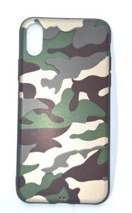 Handyhuelle-fuer-Apple-Iphone-X-Handy-Tasche-Handyhuelle-Silikon-Camouflage-Gruen