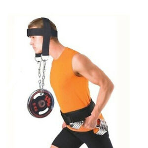 Neck-Weight-Lifting-Wrist-Wraps-Straps-Fitness-Body-Building-Adjustable-Hea-g-sc