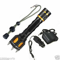 2200 Lumen Ultrafire Cree Xml T6 Tactical Led Rechargeable Flashlight W/charger