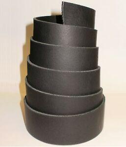 2 8mm thick ranger black leather belt blanks 145cm 57
