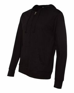 Independent-Trading-Co-Lightweight-Full-Zip-Hooded-T-Shirt-SS150JZ-Black-2XL