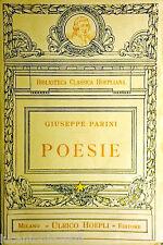 GIUSEPPE PARINI POESIE BIBLIOTECA CLASSICA HOEPLIANA ULRICO HOEPLI 1925