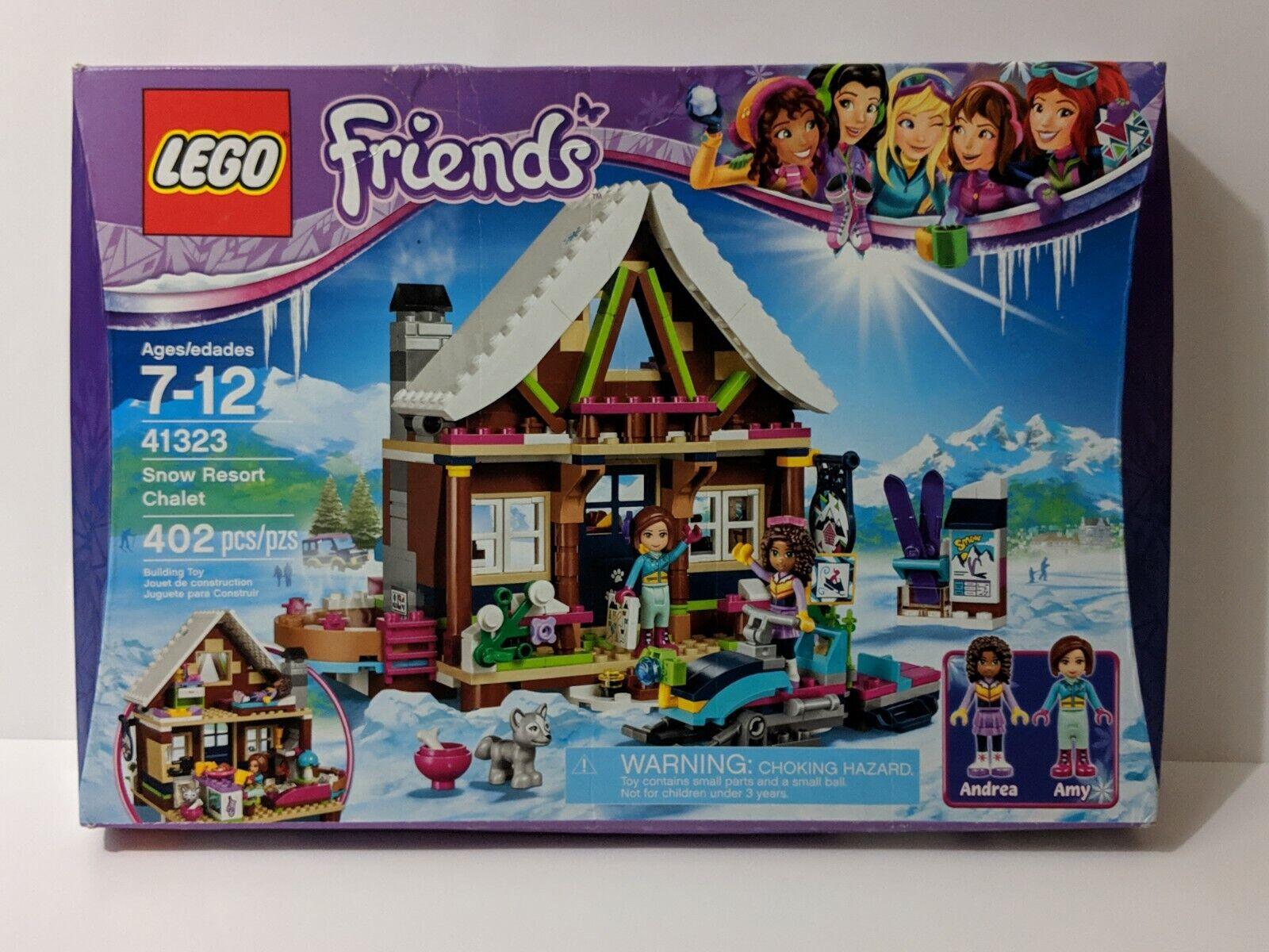 Lego Invierno Nieve Esquí chalet Resort 41323 Kit de construcción 402 piezas amigo edad 7 Up