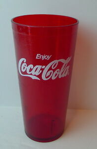 Coke-Coca-Cola-Red-Plastic-Drinking-Glass-Drinkware