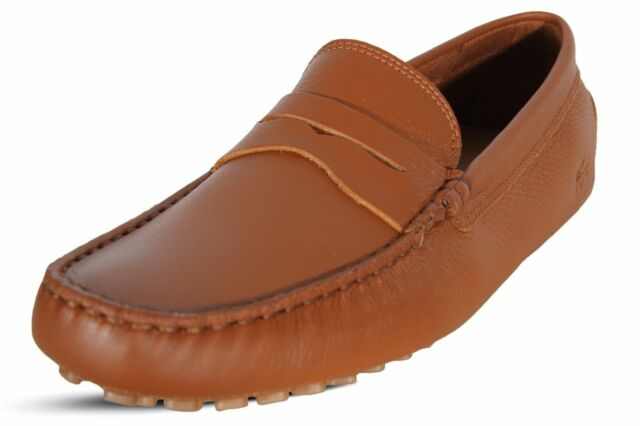 3fa91fef3 Lacoste Shoes Concours 118 1 P CAM Mens Driving Loafers Leather Tan