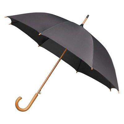 beige IMPLIVA Automatik Damen Schirm Stockschirm Regenschirm Umbrella