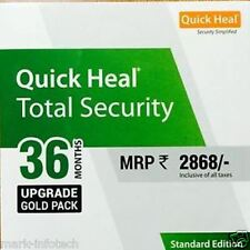Quick Heal Total Security 1 User  3 Year Renewal  Upgrade Pack 1PC 3Yr Quickheal