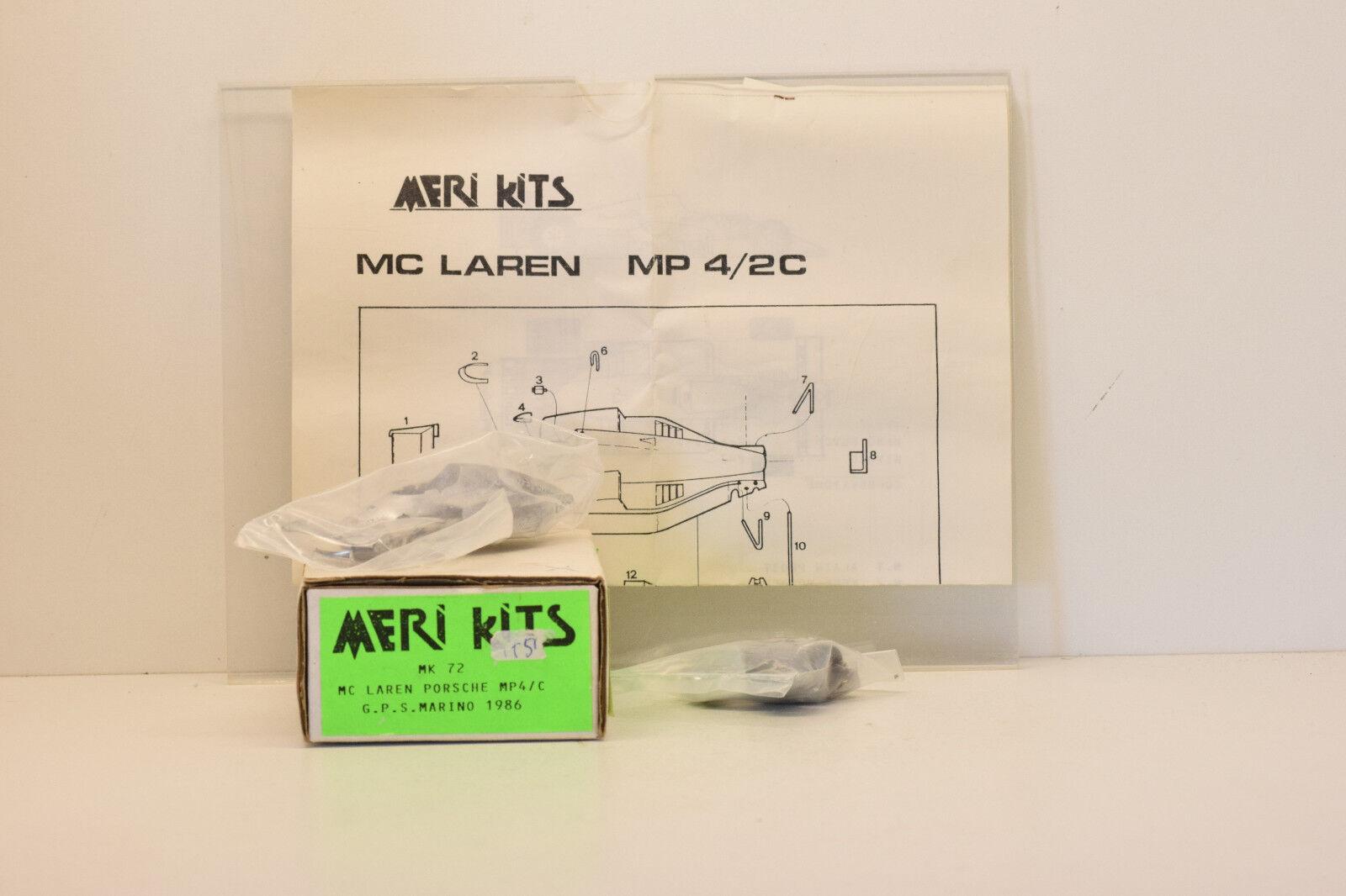 Mp4 c porsche kit mclaren prost gp san marino 1986 meri kits 1 43 new in box