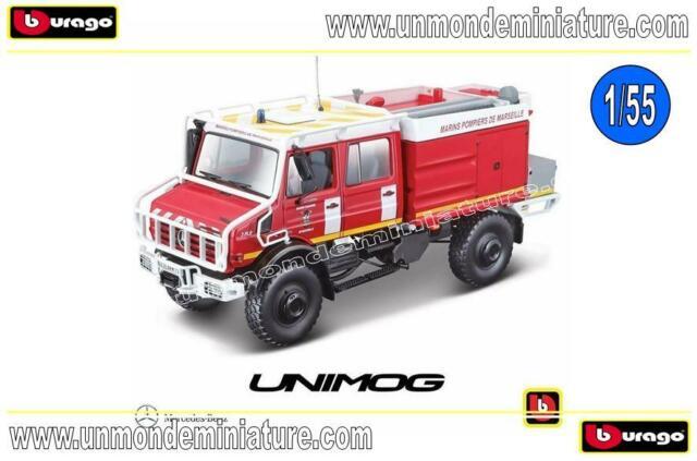 Mercedes-Benz Unimog Pompier 13 BBURAGO - BB 32017RD - Echelle 1/50