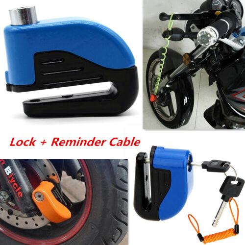 Motorcycles Anti-theft Wheel Disc Brake Lock Alerting Security Reminder Cable
