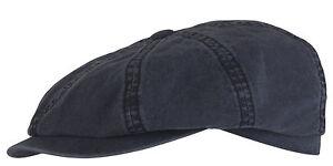 Stetson-garde-soleil-FlatCap-Mitron-bonnet-bonnet-coton-organique-HATTERAS-Bleu