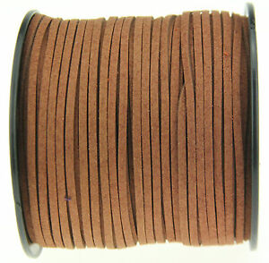 10 yds 3mm brown Suede Leather String Jewelry Making Thread Cords new