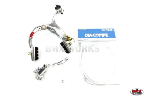 Genuine Dia-Compe MX1000 MX121 Rear Brake Kit Silver Old School BMX