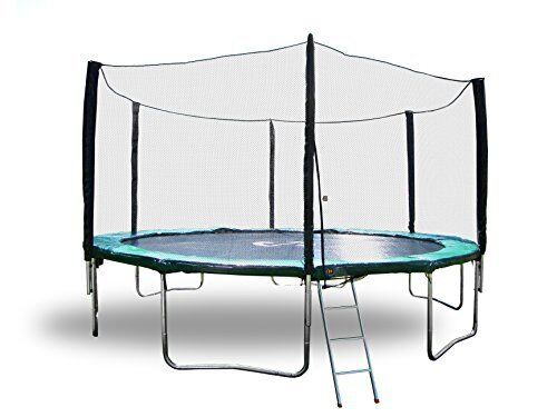 Round Trampoline with safety Enclosure all in one combo set /& Lifetime warranty