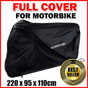 Large-Waterproof-Motorcycle-Bike-Cover-Scooter-Outdoor-UV-Rain-Protector-Black