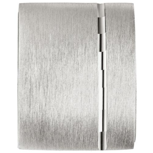 Unisex medallón cuadrada para 1 foto 925 Sterling plata mate remolque para abrir.
