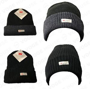 f0b23c004 Details about Mens Official 3M Thinsulate Knitted Hat Thermal Winter Warm  Wool Chunky Beanie