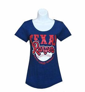 Mlb-Womens-Apparel-Texas-Rangers-Ladies-MLB-Scoop-Neck-Team-Tee-Shirt-nwt-SM