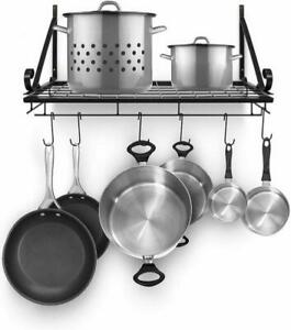 POT PAN RACK EXTRA HOOKS HANGERS SET FOR FRENCH STYLE METAL KITCHEN ACCESSORY