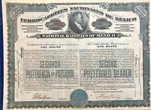 National-Railways-of-Mexico-gt-Ferrocarriles-Nacionales-de-1910-stock-certificate