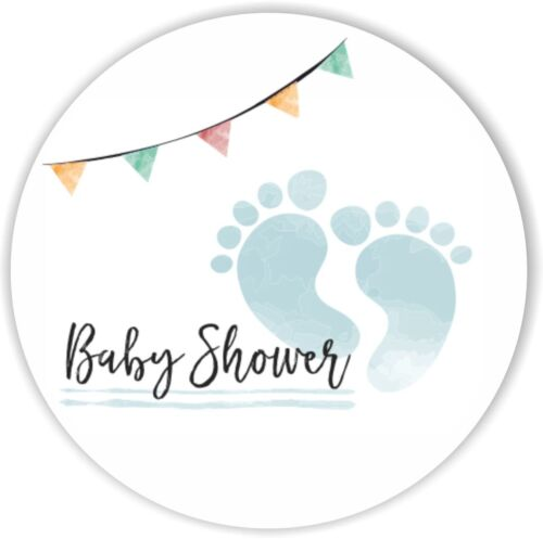 Baby Shower Paper 37mm Matt Stickers Party Bag Gift Bag Sweet Cone