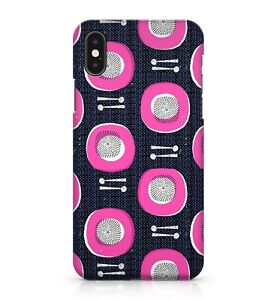 Dining-Kitchen-Table-Pink-Dinner-Plates-Silver-Spoon-Pattern-Phone-Case-Cover