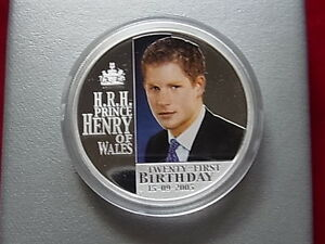 Australia-2005-1oz-Silver-1-Prince-Harry-21st-Birthday-Coloured-Proof