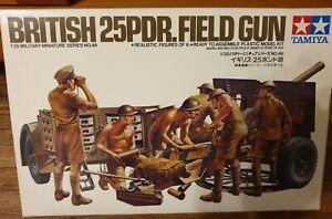 Tamiya-WW2-British-25-Pdr-Field-Gun-with-Limber-amp-Crew-35046-1-35-Sealed